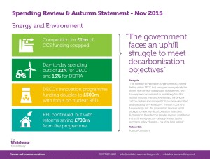 WHC Spending Review & Autumn Statement - Energy & Environment