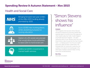 WHC Spending Review & Autumn Statement - Health and Social Care