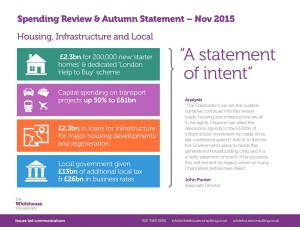 WHC Spending Review & Autumn Statement - Housing, Infrastructure and Local
