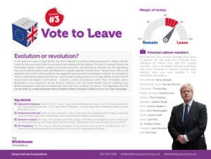 Whitehouse - EU Referendum - Vote to Leave