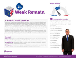 Whitehouse - EU Referendum - Weak Remain