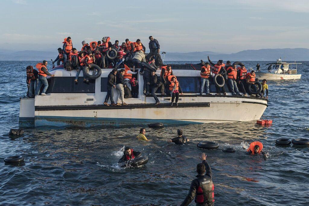refugee boat greece